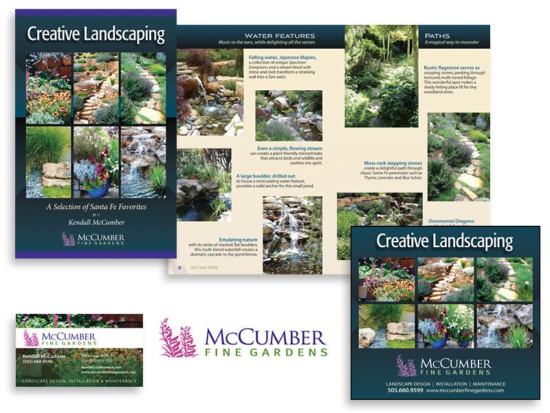 Graphic design and print design for McCumber Fine Gardens, Santa Fe, NM