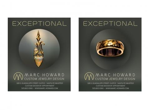 Ad Design for Marc Howard Custom Jewelry Design, Santa Fe, NM