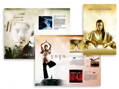 Graphic design and print design for New Earth Music, Santa Fe, NM
