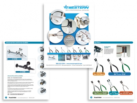 Graphic design and print design for Western Optical Supply, Santa Fe, NM