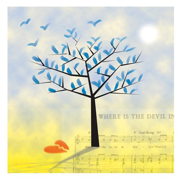 'Blue Leaves' Photo illustration for Greer Garson Theatre Center, Santa Fe, NM