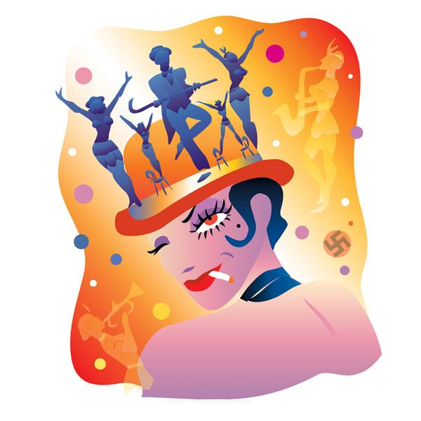 'Cabaret' Photo illustration for Greer Garson Theatre Center, Santa Fe, NM