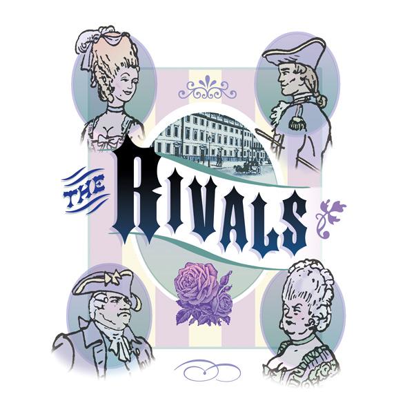 'Rivals' Photo illustration for Greer Garson Theatre Center, Santa Fe, NM