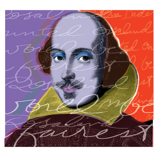 'Shakespeare' Photo illustration for Greer Garson Theatre Center, Santa Fe, NM