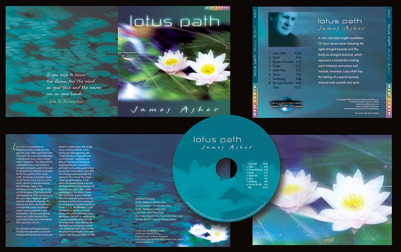 """""""Lotus Touch"""" CD Packaging Design by A.D. Design in Santa Fe, New Mexico"""