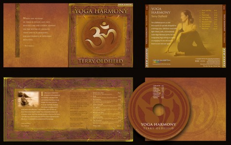 """""""Yoga Harmony"""" CD Packaging Design by A.D. Design in Santa Fe, New Mexico"""