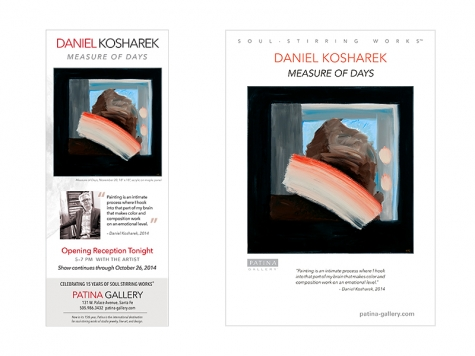 Ad & Postcard Design for Patina Gallery, Santa Fe, NM