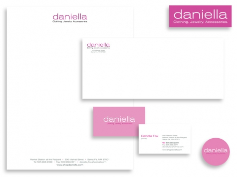 More graphic design and print design for Daniella Boutique, Santa Fe, NM