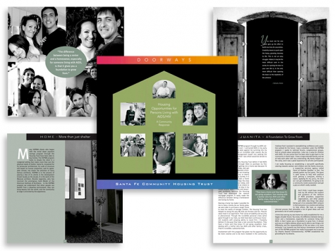 Graphic design and print design for Santa Fe Community Housing Trust, Santa Fe, NM