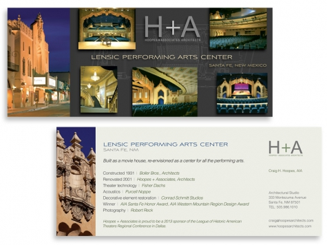 Graphic design and print design for Hoopes + Associates Architects, Santa Fe, NM