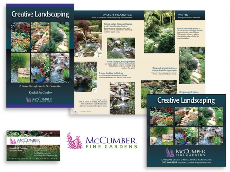 Graphic design and print design for McCumber Fine Gardens, Santa Fe, NM