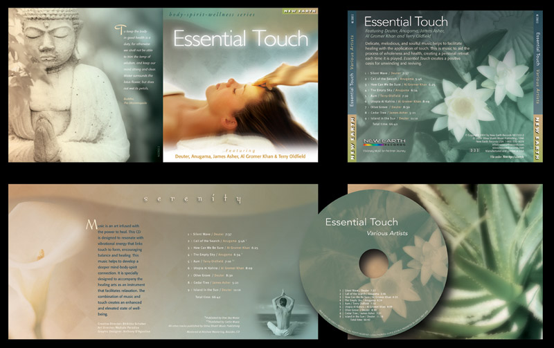 """Essential Touch"" CD Packaging Design by A.D. Design in Santa Fe, New Mexico"