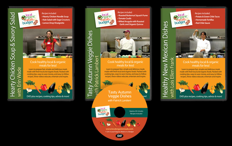 DVD Packaging Insert & Disc Design for Local Organic Meals on a Budget, Santa Fe, NM