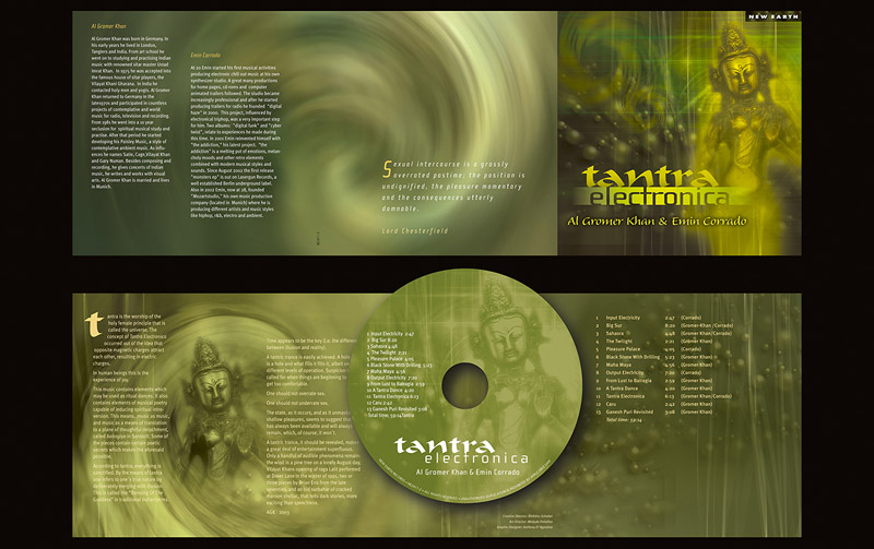 """Tantra Electronica"" CD Packaging Design by A.D. Design in Santa Fe, New Mexico"