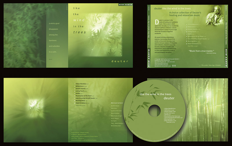 """Like the Wind in the Trees"" CD Packaging Design by A.D. Design in Santa Fe, New Mexico"