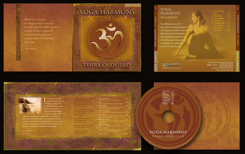 """Yoga Harmony"" CD Packaging Design by A.D. Design in Santa Fe, New Mexico"