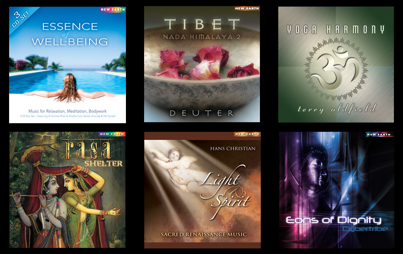 CD Cover Designs for New Earth Records by A.D. Design in Santa Fe, New Mexico