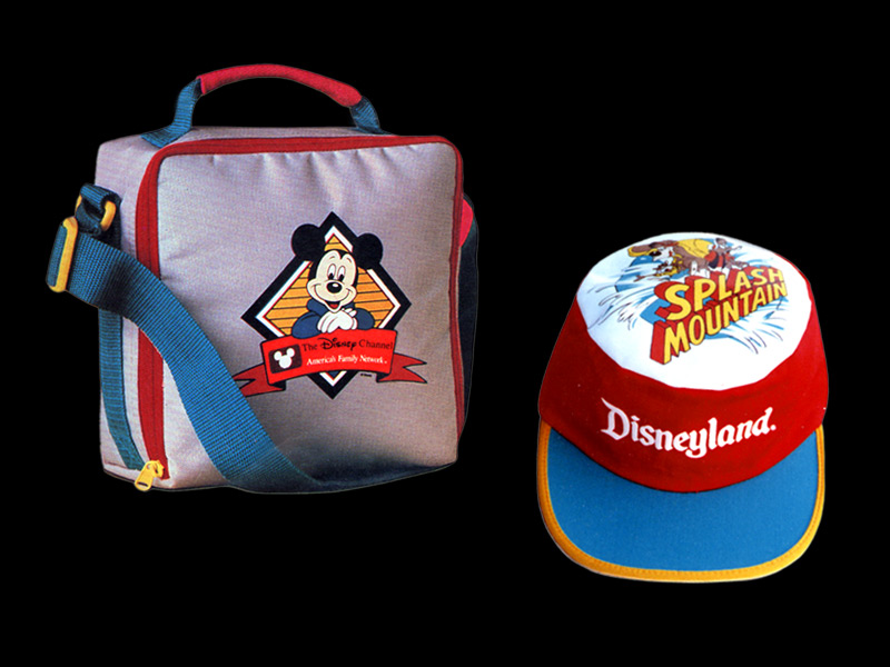 Design and illustration for Disney Channel tote bag and Disneyland cap products