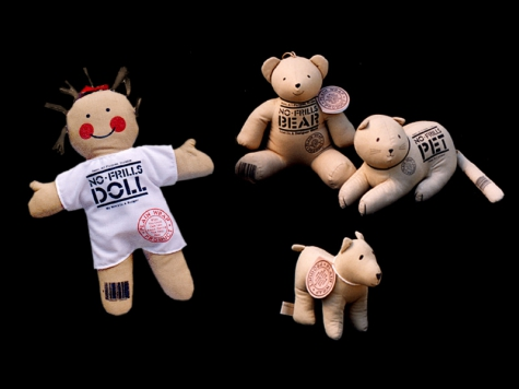 "Plush toy design for ""No-Frills"" stuffed animal and doll products"