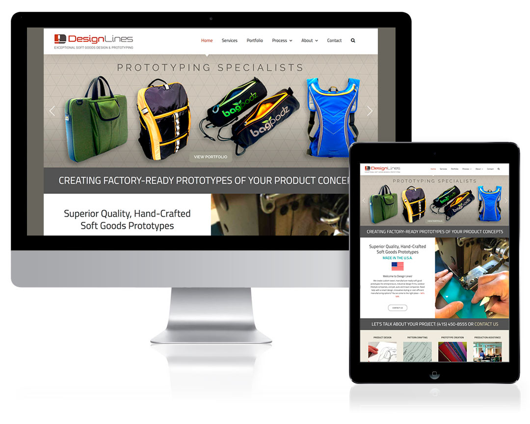 WordPress Website Design for Design Lines, Petaluma, CA
