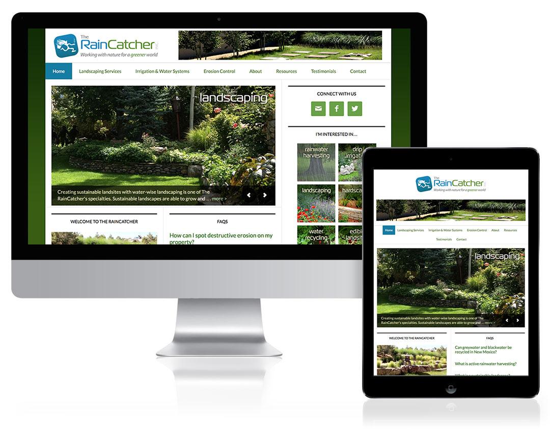 WordPress Website Design for The RainCatcher, Santa Fe, NM