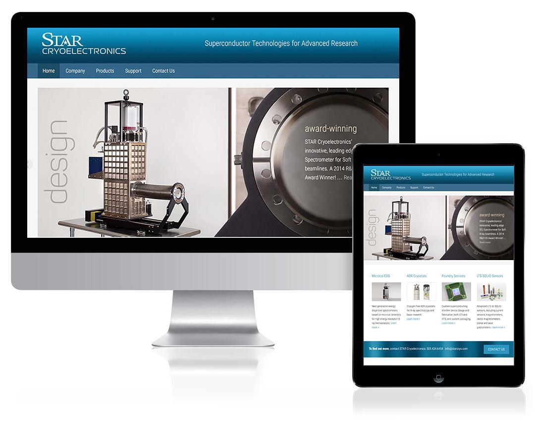 WordPress Website Design for Star Cryoelectronics, Santa Fe, NM