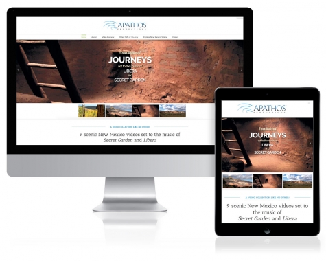 WordPress Website Design for Apathos Productions, Santa Fe, NM