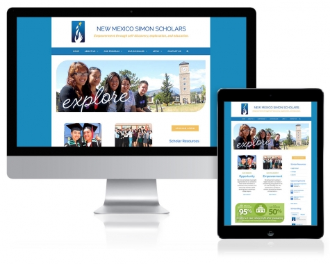 WordPress Website Design for New Mexico Simon Scholars, Santa Fe, NM