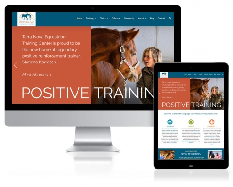 WordPress Website Design for Terra Nova Equestrian Training Center, Santa Fe, NM