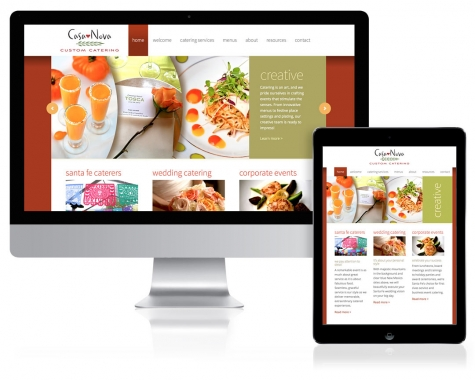 WordPress Website Design for Casa Nova Custom Catering, Santa Fe, NM