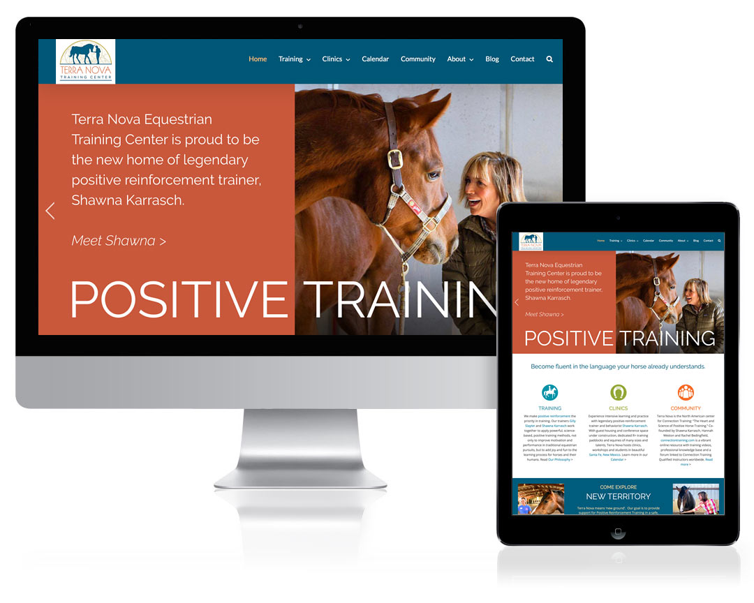 WordPress Website Design for Terra Nova Equestrian Training Center, Santa Fe, NM