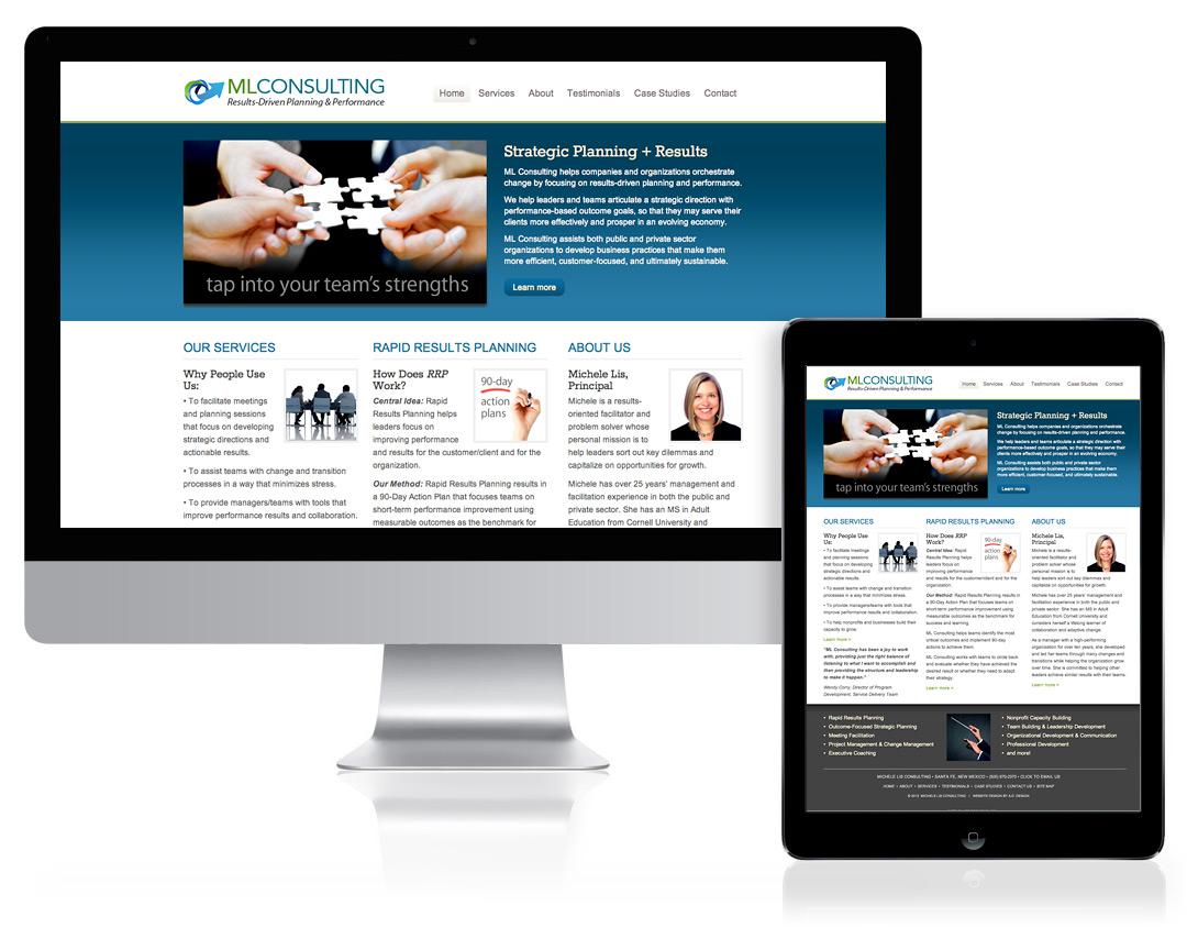 WordPress Website Design for ML Consulting, Santa Fe, NM