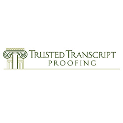 Logo Design for Trusted Transcript Proofing, Santa Fe, NM