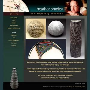 Website Design for Heather Bradley Ceramics by A.D. Design, Santa Fe, NM